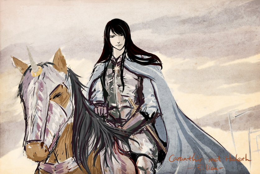 Caranthir meets Haleth by eilian