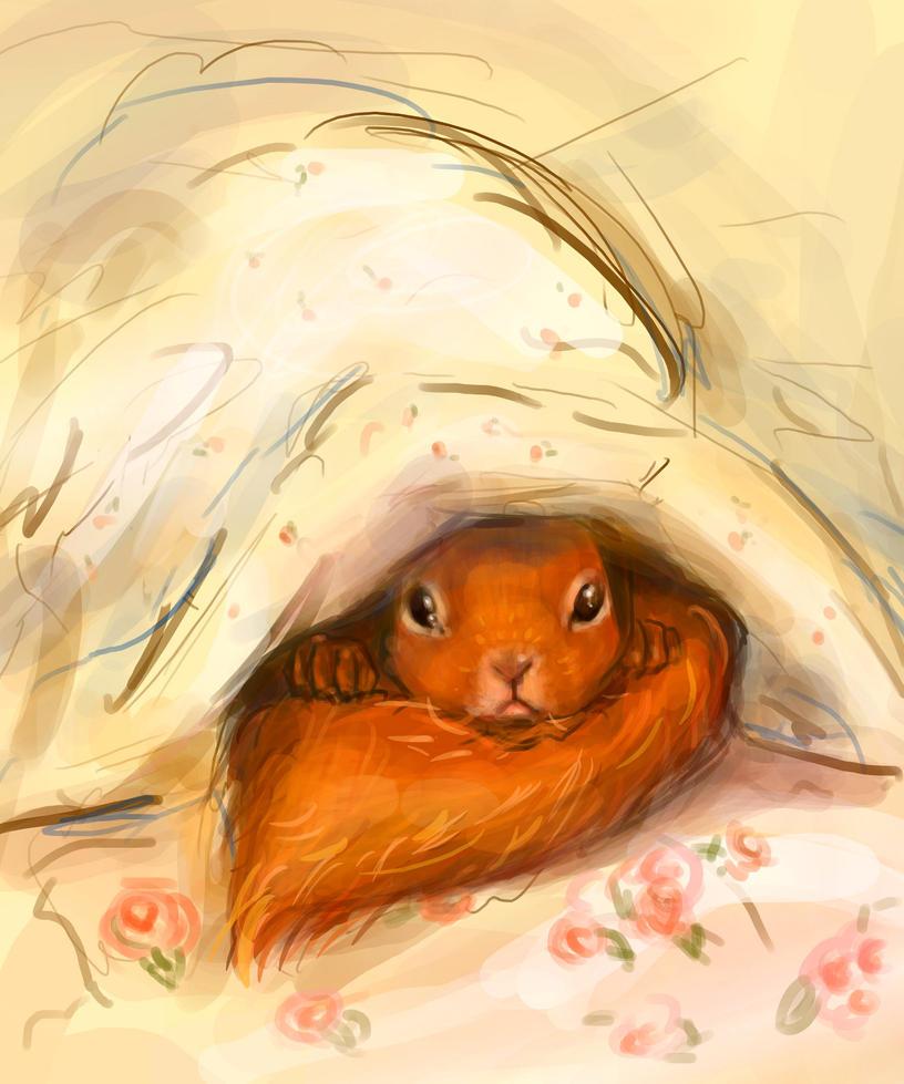 Hiding squirrel by KatarzynaLawniczak