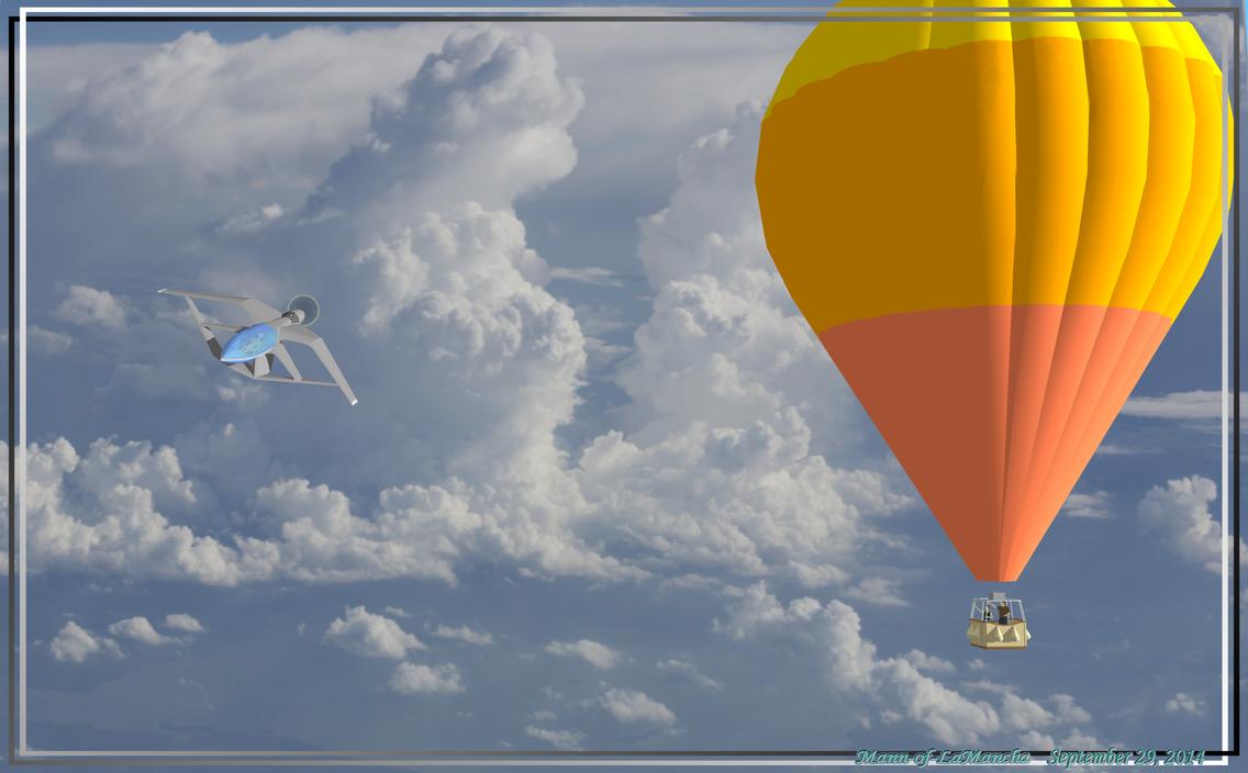 Hot Air Balloon and Mini-Dragonfly by Mann-of-LaMancha