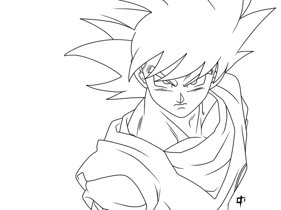 روسمات دراغون بول زد Son_goku_lineart_by_korashin-d5930i0