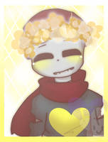 Hot skele with a flower crown (Art trade) by MickaaaCHy