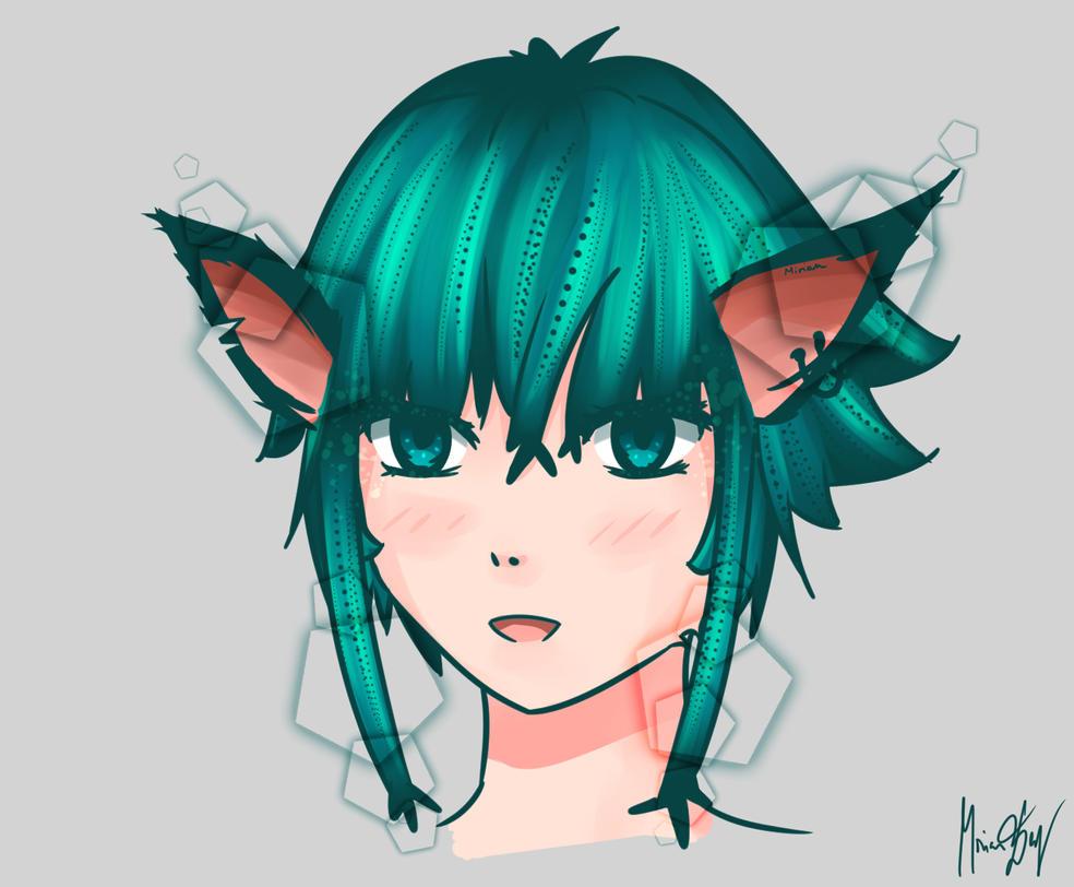 Cat girl by RainbowDragonKasai