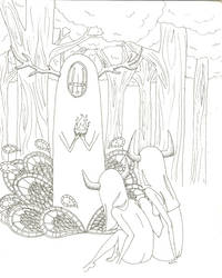 -Unfinished- Forest Spirit by Her-Royal-Nibs