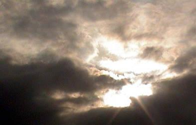 the sun over the city