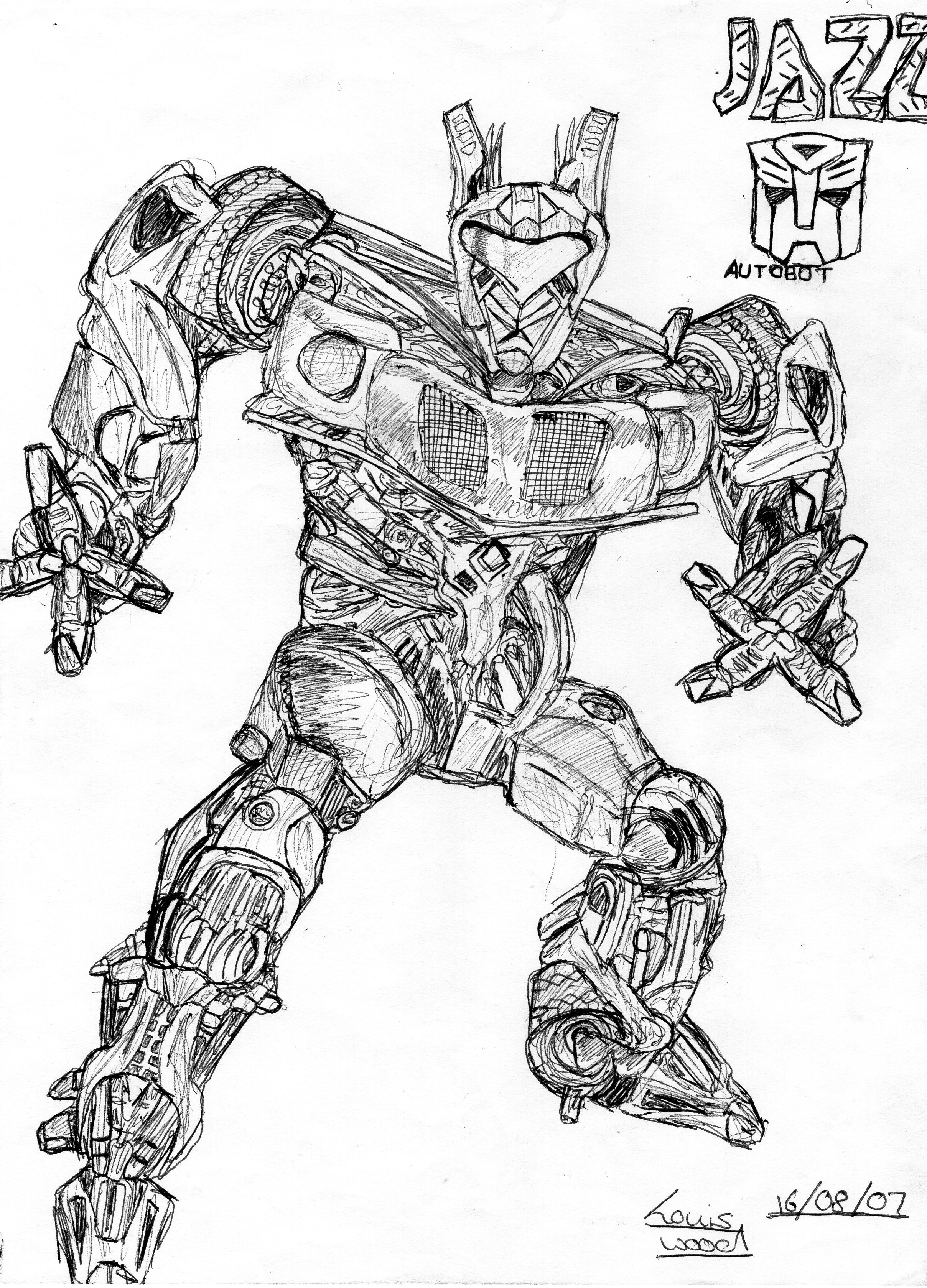 Transformers Coloring Pages Of Jazz Jazz Coloring Pages