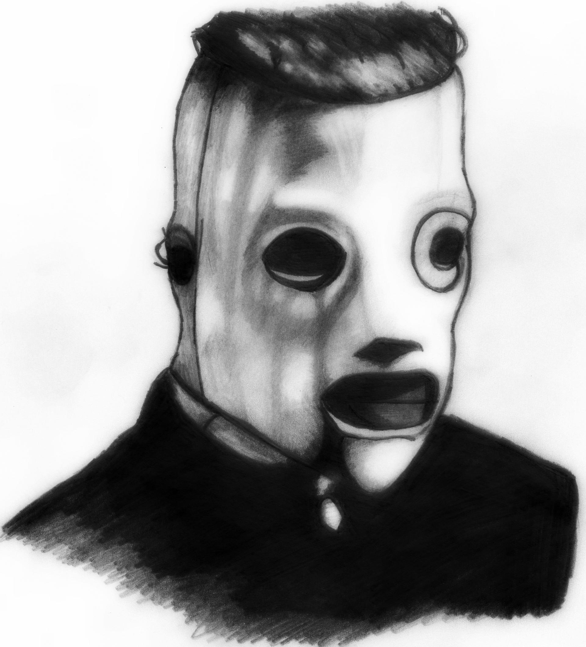 slipknot corey taylor drawing by deathlouis on deviantart