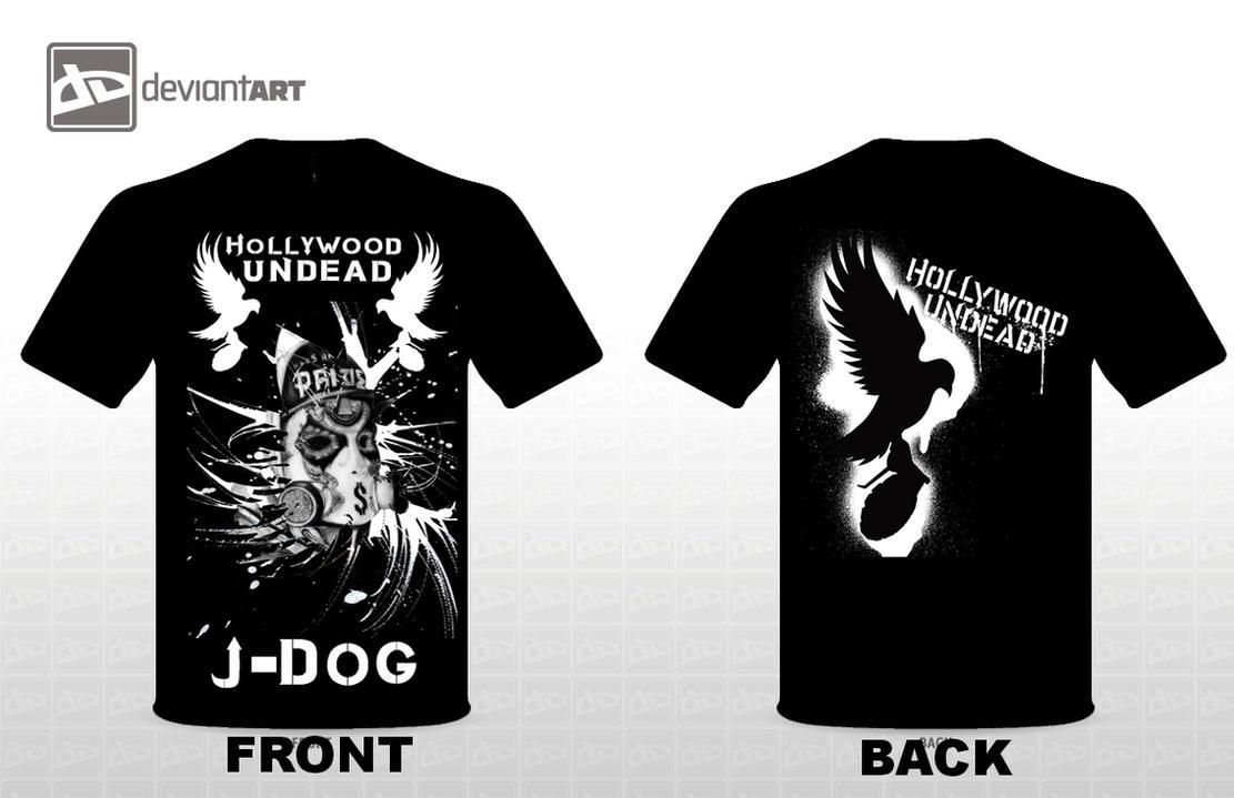 Hollywood Undead J Dog Mask 2013 Hollywood Undead J-Dog T-shirt