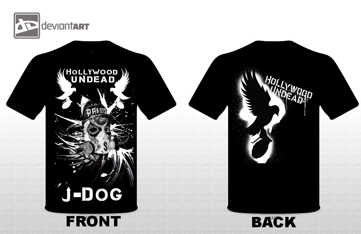 hollywood undead j dog t shirt design by deathlouis on