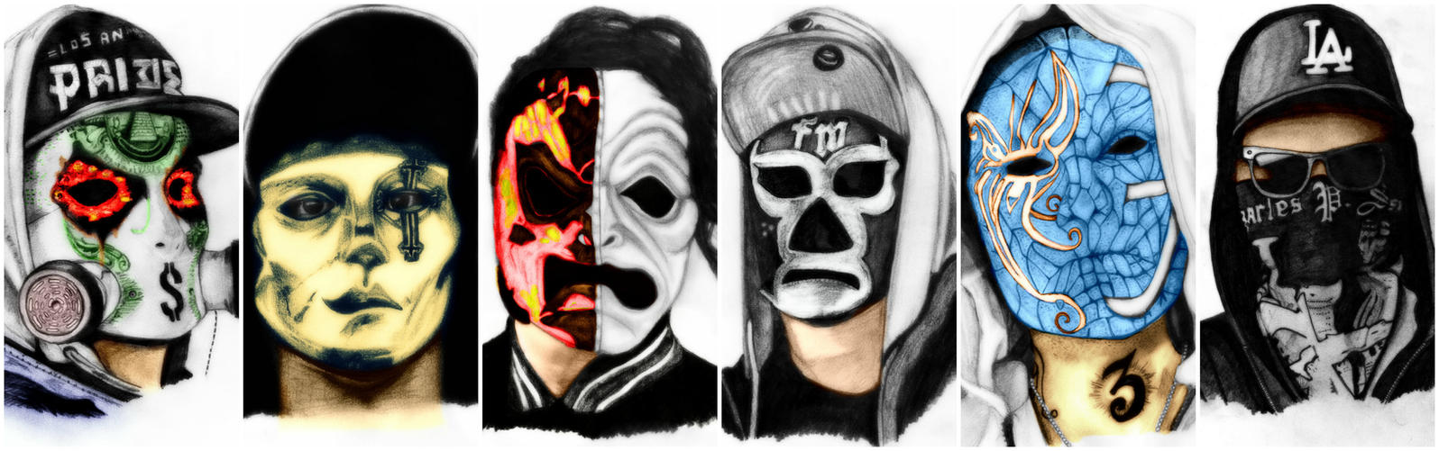 Hollywood Undead (colour) by deathlouis on DeviantArt