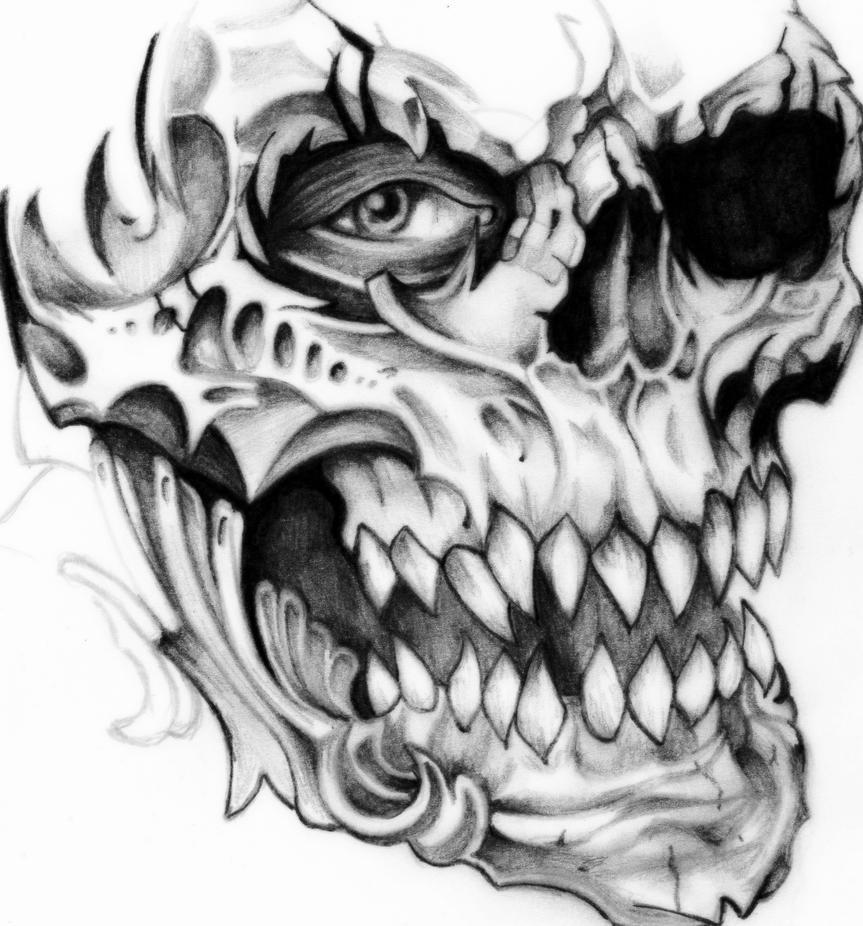 Skull Tattoo (WIP) by deathlouis