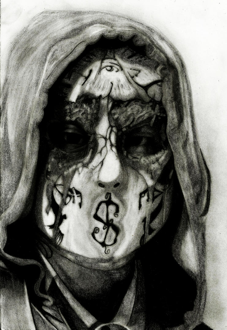 hollywood undead j dog new mask by deathlouis on