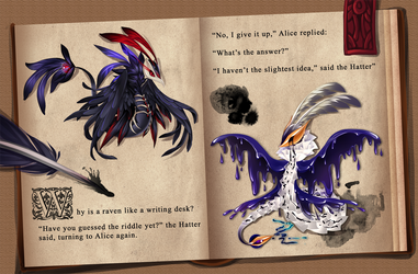 [Set Price] The Raven and the Writing Desk (Close)