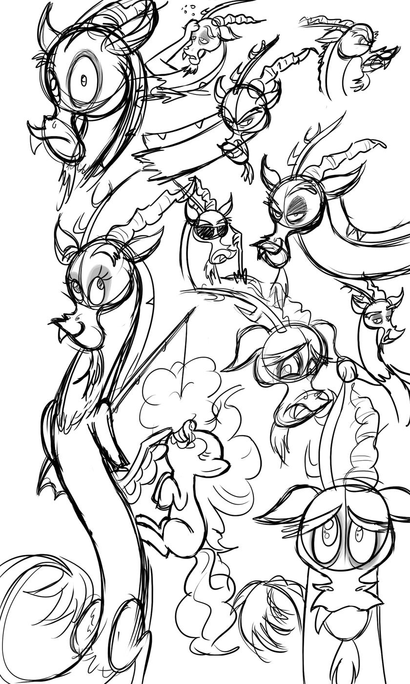 MLP- Random Discord Sketches by InvderLava
