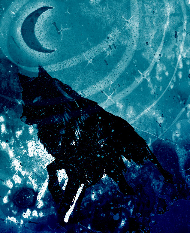 Trippy wolf painting - photo#26