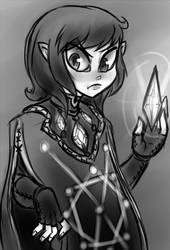 [Sketch]A mage by CountAile