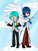 Angel Mikuo and Kaito by Ginger-AleG3