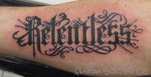 Relentless Logo Tattoo by mxw8