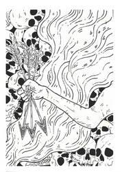 Inktober Day 10 - The Arrow Of Satan Is Drawn by Raven-HD-Maverick