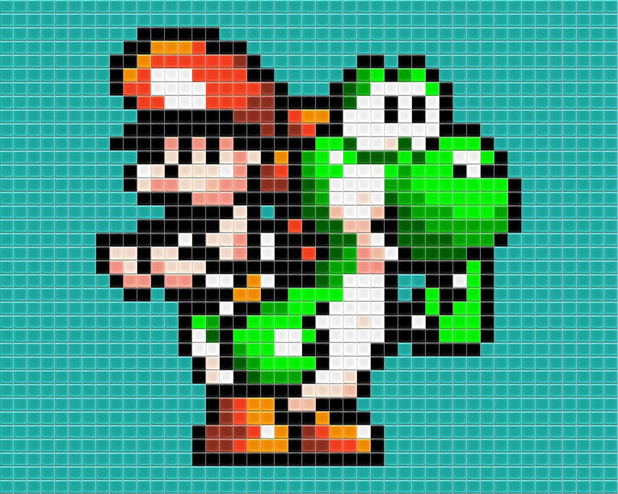 Baby Mario Tiled by drsparc on DeviantArt