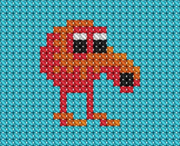 Q Bert Cross Stitch By Drsparc