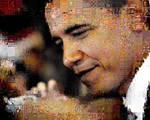 Obama cascading photo mosaic