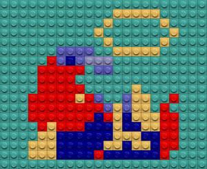 Mario Down Lego
