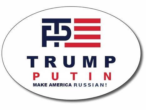 Putin  Oval Bumper Sticker Logo 800 x 600