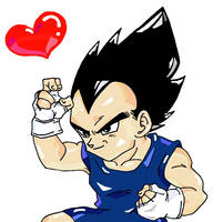 Vegeta Jr, You Wanna Fight Me? by RaditzLover