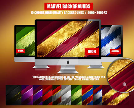 10 Collection Marvel backgrounds
