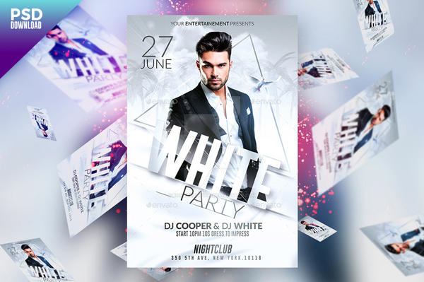 Prestige Pack Psd Flyer Templates White Party By Romecreation On