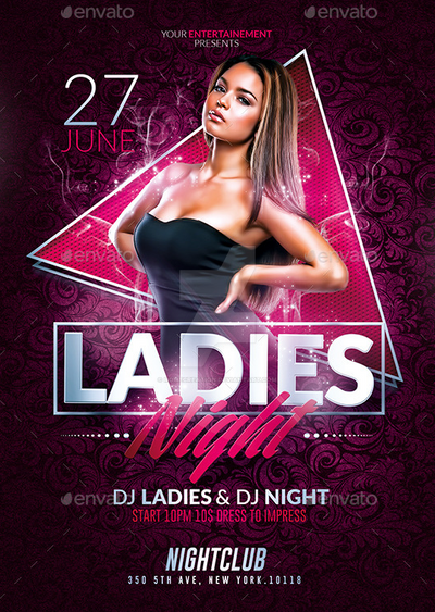 Ladies Night Party Psd Flyer Templates By Romecreation On Deviantart