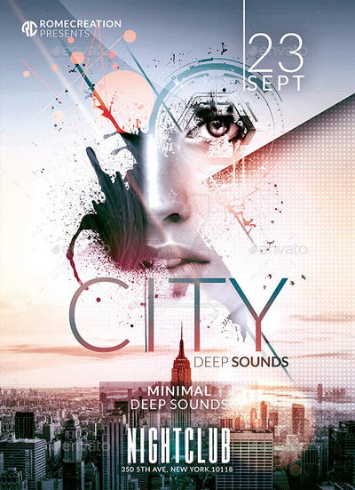 Wonderful Minimal Deep Sounds | Psd Flyer Template By RomeCreation ...
