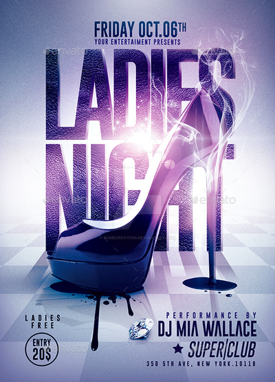 Ladies Night Party Psd Flyer Template By Romecreation On Deviantart