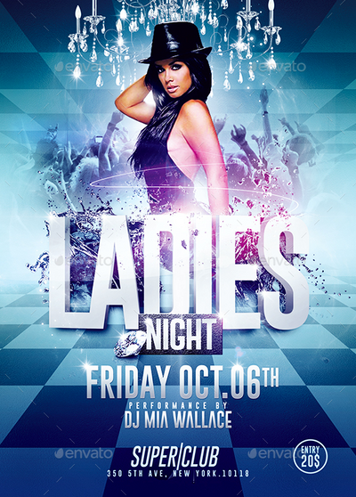 Ladies Night Sexy Party Flyer Template By Romecreation On Deviantart