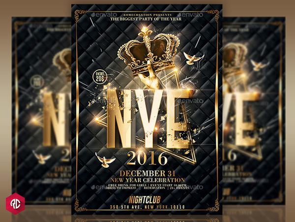 New Year Party  Classy Flyer Template By Romecreation On Deviantart