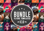 Psd Package 10 Minimal Flyer Templates  Bundle
