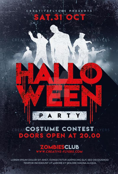 halloween flyer psd by romecreation on deviantart
