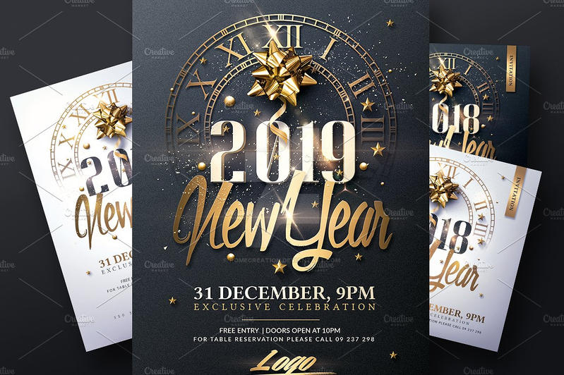 new year invitation templates by romecreation
