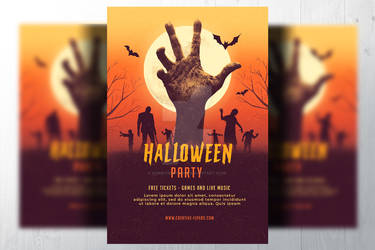 Halloween-party-flyer-Template by RomeCreation