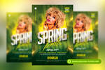 Spring Party Flyer Templates by RomeCreation
