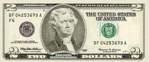 Alternate Universe Two Dollar Bill Front