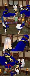 Battle of Girl and Ninjas by swordsman9