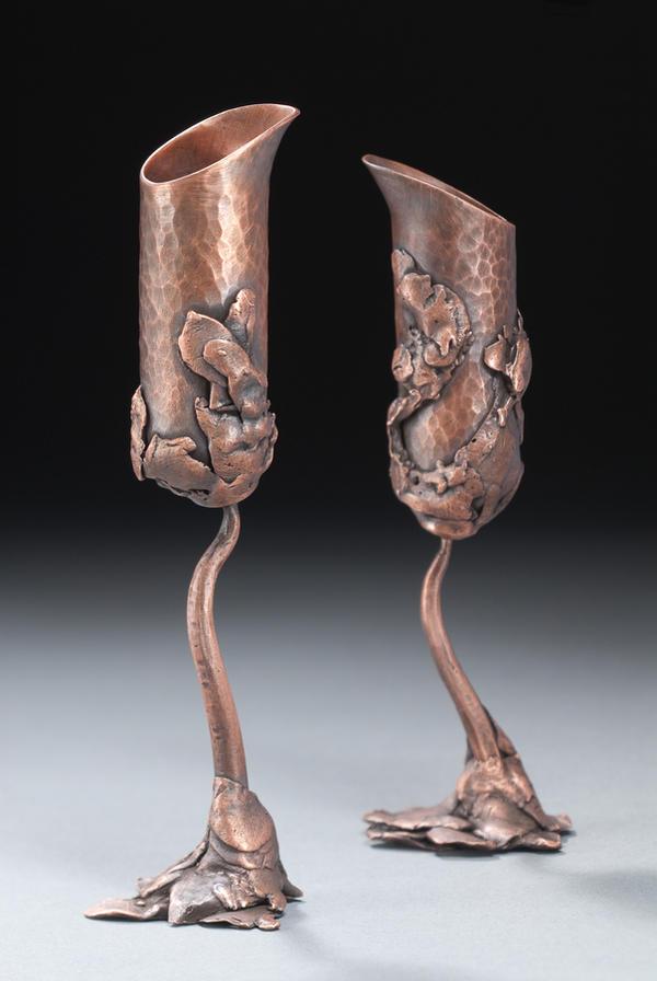 Cast Copper Goblets by VandaLann