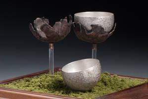 Shibuichi Sake Cups by VandaLann