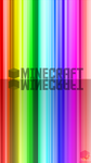 Minecraft Rainbow Text Wallpaper iPhone