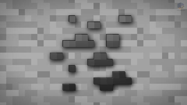 MineCraft Shaded Coal Ore Wallpaper