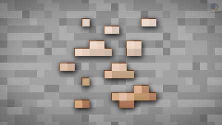 MineCraft Shaded Iron Ore Wallpaper by ChrisL21