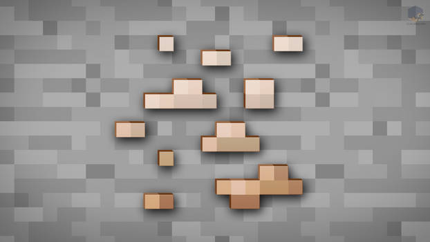 MineCraft Shaded Iron Ore Wallpaper