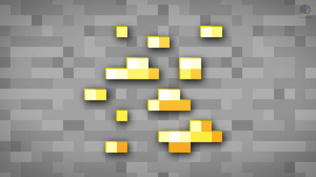 MineCraft Shaded Gold Ore Wallpaper