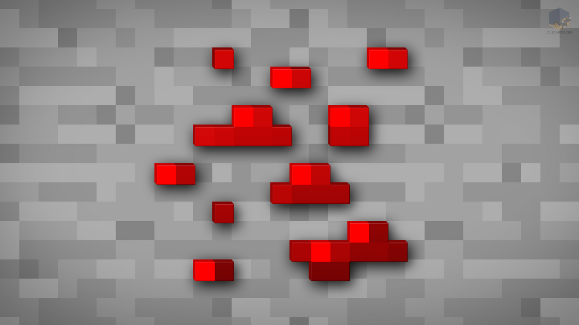 MineCraft Shaded Redstone Ore Wallpaper by ChrisL21 on ...